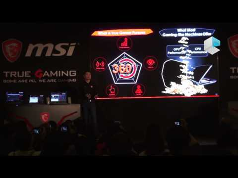 MSI CES 2017 gaming notebooks and desktops with Intel Kaby Lake