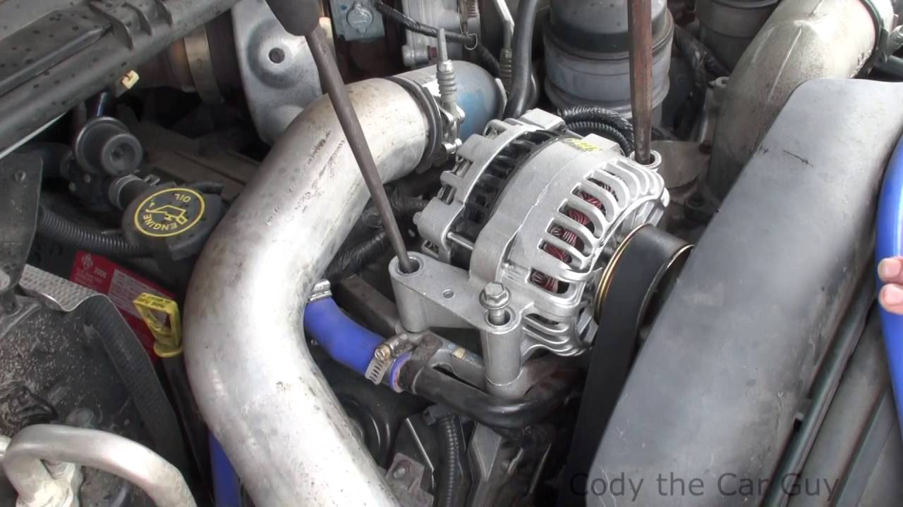 small resolution of superduty 6 0 alternator serpentine belt change simple and easy way