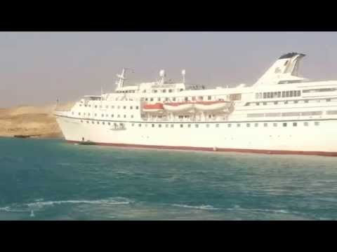 Former President Adly Mansour tour in the new Suez Canal