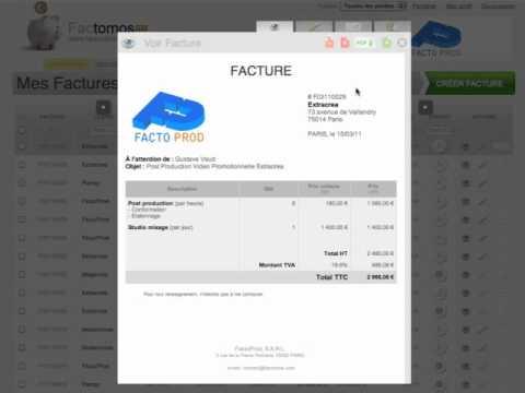 cr er une facture via un devis avec factomos logiciel de facturation youtube. Black Bedroom Furniture Sets. Home Design Ideas