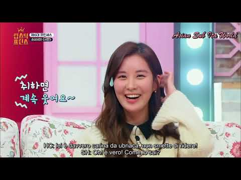 [SUB ITA] 170105 LIPSTICK PRINCE - Heechul Reveals How Seohyun Acts When Drunk EP 6