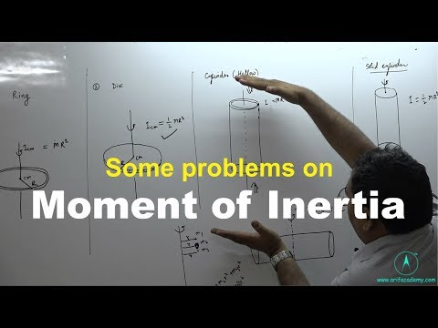 Moment of inertia :some important problems
