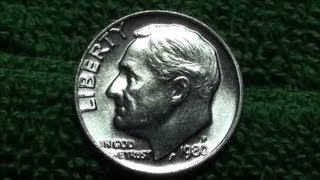Unbelievable 1980-p Roosevelt Dime Found Coin Roll Hunting