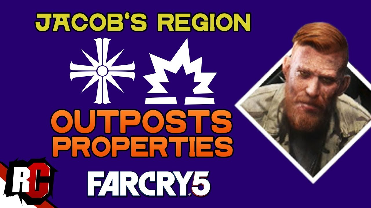 All Cult Outposts Properties In Jacob S Region Far Cry 5 Map