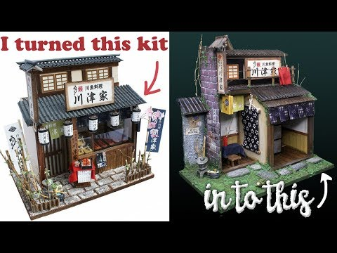 Freestyling a DIY Billy Miniature Grilled Eel Shop Kit ミニチュアキット 柴又のうなぎ屋さん作り