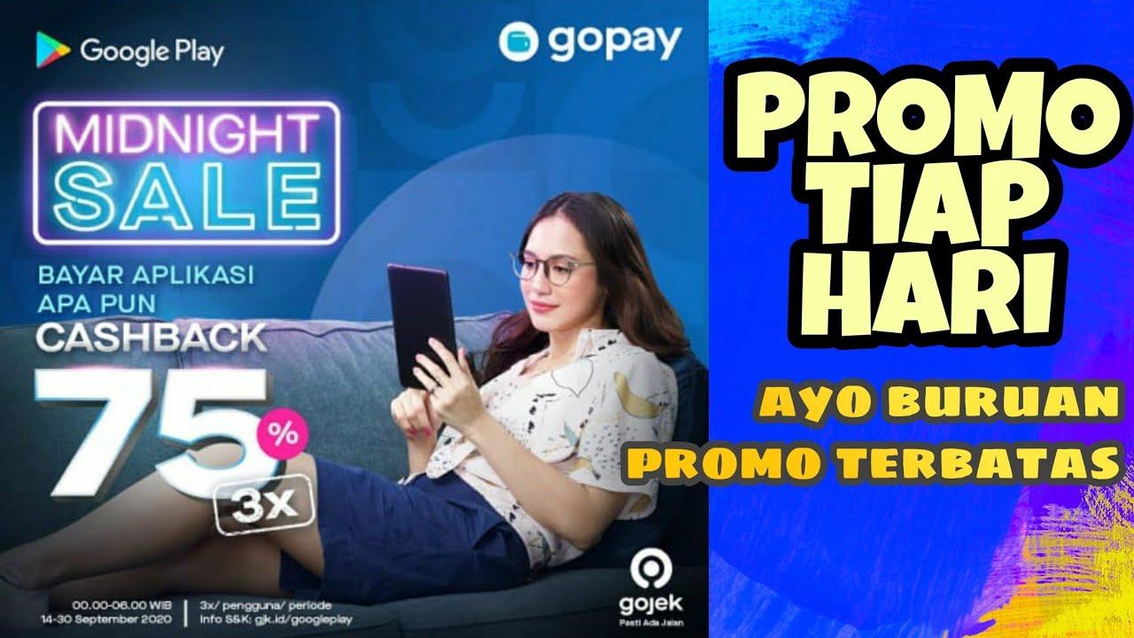Dapatkan Promo Cashback 3x Midnight Sale Everyday Untuk Pengguna Gopay Buruan Yuk Youtube