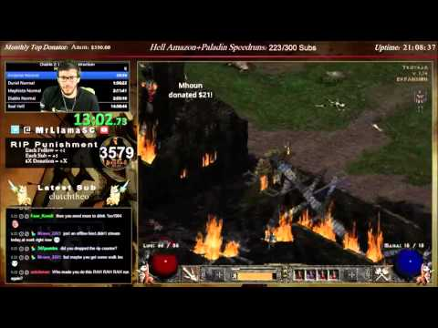Diablo 2 - HELL BARB World Record - 13:21:56 - Part Normal