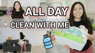 *NEW* ALL DAY CLEAN WITH ME & NEW MUSIC ⭐ CLEANING MOTIVATION // SPEED CLEANING 💗