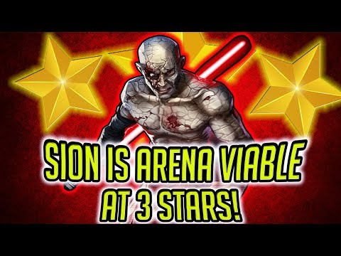 Sion is Arena Viable at 3 Stars! How Much $$$ to Get to 7 Stars? | Star Wars: Galaxy of Heroes