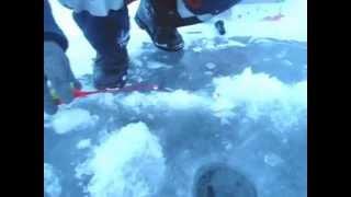 Зимняя рыбалка на сорочинском водохранилище.