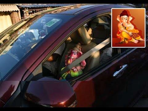 விநாயகர்-தரிசனம்-:::-காரில்-சீட்-பெல்ட்-அணிந்து-செல்லும்-விநாயகர்