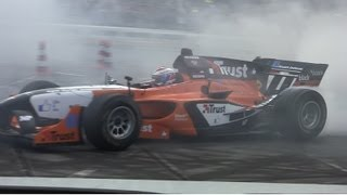 Jos Verstappen AutoGP demo City Racing Rotterdam 2013 [HD]