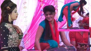 UP की ढोलक चैम्पियन आरती शास्त्री ने दो दो ढोलक वजाई अलीगढ़ में।। आज तक की सवसे Best ढोलक वजाई।।