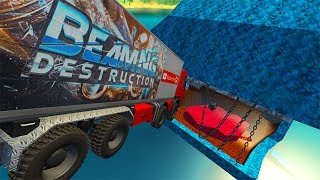 Jumping In Whales Chained Mouth High Speed Car Jumps BeamNG drive