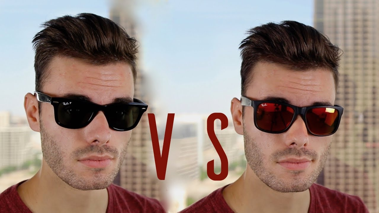 a2fb4084717 Ray-Ban Original Wayfarer vs Ray-Ban Justin - YouTube
