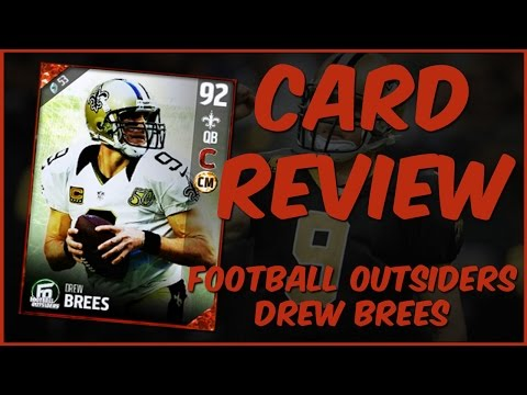 MUT 17 Card Review | Football Outsiders Drew Brees Gameplay + Card Review