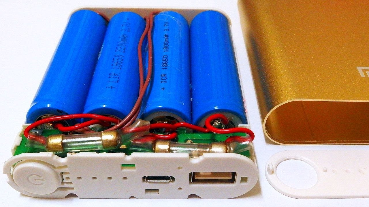 Quot Diy Quot Usb Power Bank With 4x 18650 Li Ion Cells Youtube