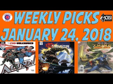 Weekly Picks for New Comic Books Releasing January 24, 2018