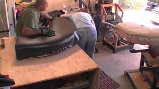Corner Booth Seat Repair   Vinyl Upholstery And Repair Time Lapse