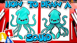 How To Draw A Funny Cartoon Squid
