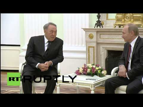 Russia: Putin welcomes Nazarbayev ahead of Eurasian Economic Union launch