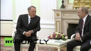 Russia: Putin welcomes Nazarbayev ahead of Eurasian Economic Union launch