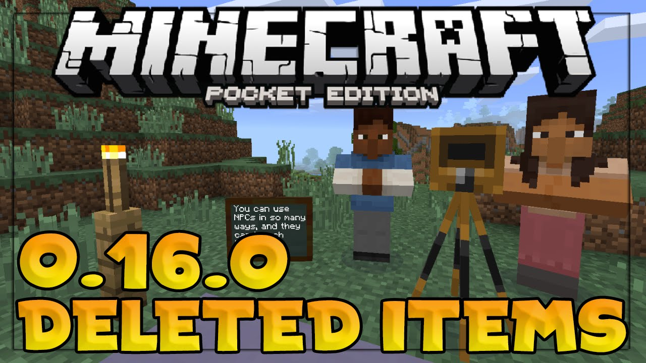 DELETED MINECRAFT PE 0.16.0 ITEMS!!! - Minecraft Education Edition?! - Minecraft PE (Pocket Edition)