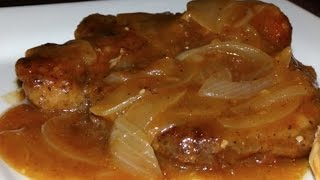 Smothered Pork Chops With Onions & Gravy Recipe