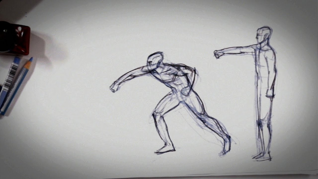 Line Drawings From D Models : How to show movement in a drawing tips youtube