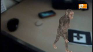 augmented reality 3D see a Neanderthal walk across your desk