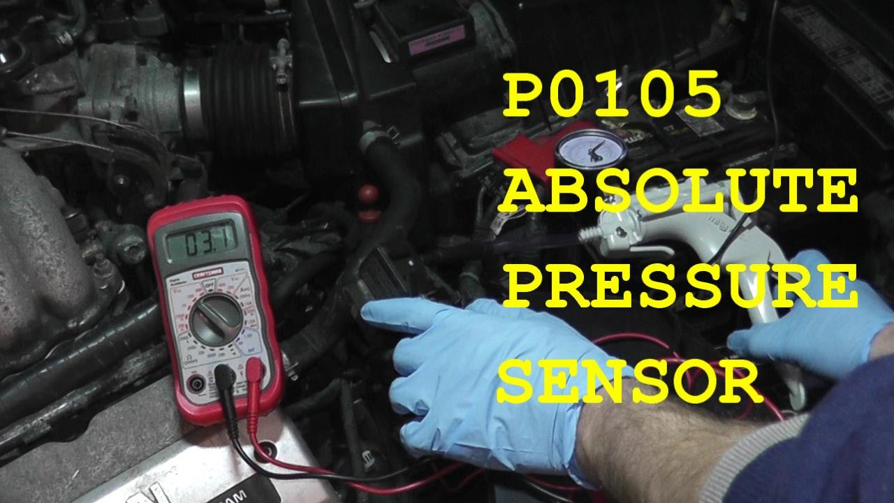 Opel Vectra Wiring Diagram For Home Electrical How To Test And Replace An Absolute Pressure Sensor P0105 Hd Youtube