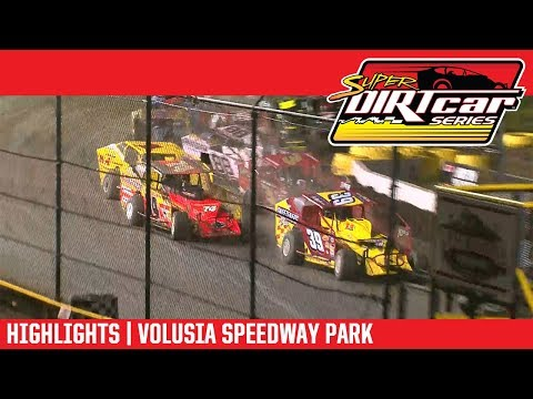 Super DIRTcar Series Big Block Modifieds Volusia Speedway Park February 15th, 2018 | HIGHLIGHTS