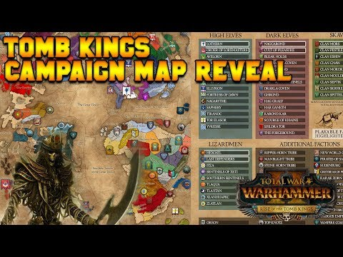 Tomb Kings Map Reveal: Starting Positions - Khalida, Settra, Arkhan, Khatep | Total War: Warhammer 2
