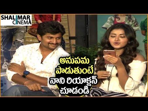 Anupama Sings Dhaari Choodu Song || Krishnarjuna Yuddham Movie Team Interview || Nani