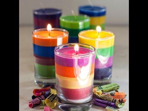 Cómo Hacer Velas Con Crayones Crayolas Dye Candles With Crayons
