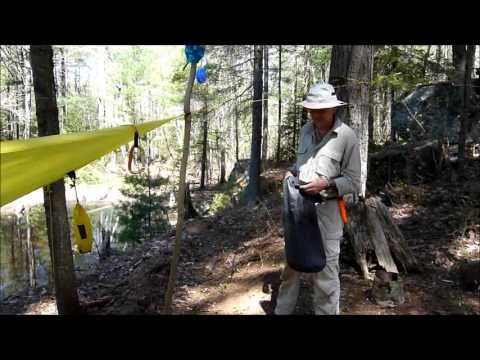438ce8a80b0 A Simple Wash Basin Using a Dry Bag - YouTube