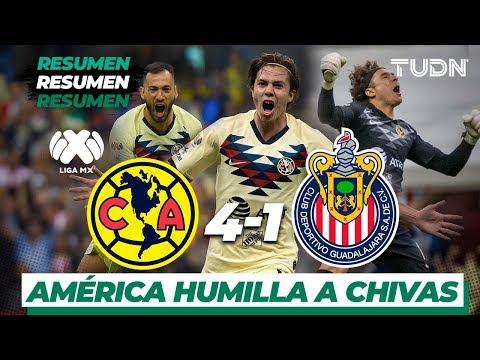 Resumen y goles   América 4 –  1 Guadalajara   Liga Mx –  AP 19 –  J12   TUDN