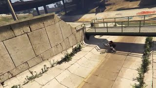 BMX - BACKWARDS HIPSTER SLIDE UNDER BRIGE - GTA5