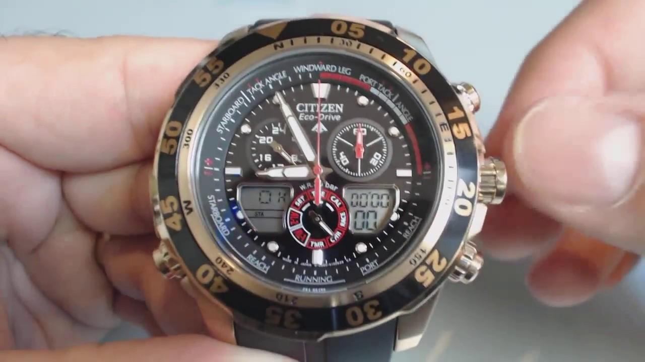 62d6b95d25b Citizen Promaster Chronograph Watch JR4046-03E - YouTube