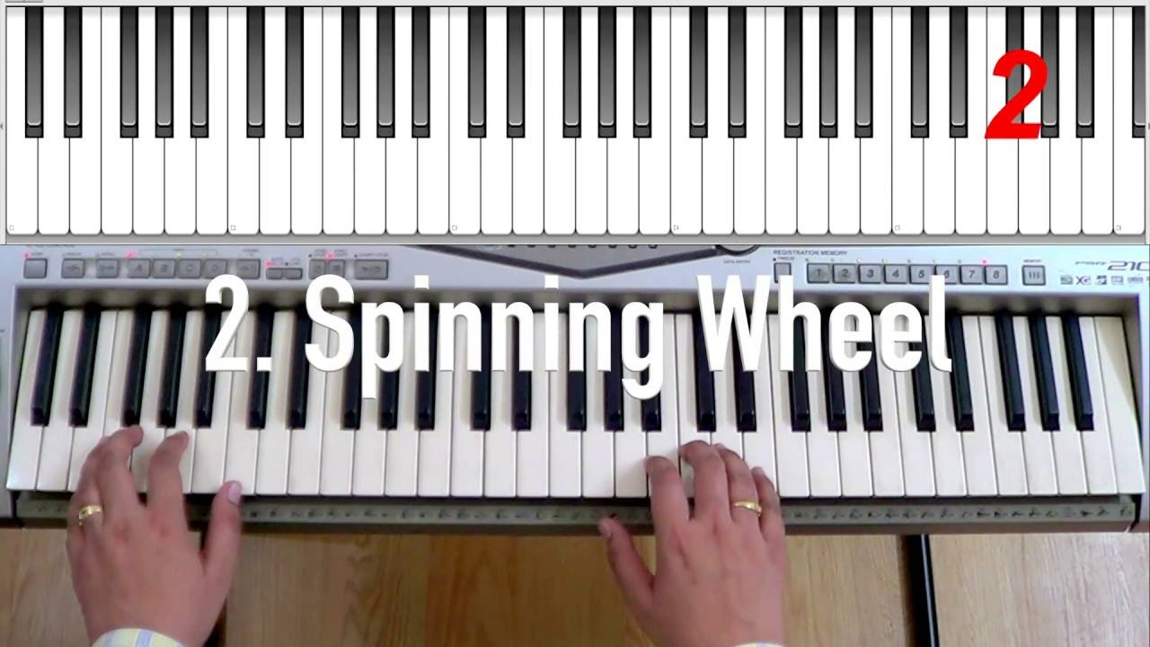 Swaying, Spinning Wheel, Parade Exercises of Grade 1 Electronic Keyboard for Trinity Exam