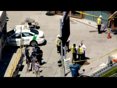 Taxi crashes into pedestrians in Boston