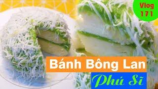 CÁCH LÀM BÁNH BÔNG LAN PHÚ SĨ BẰNG NỒI HẤP (Mount Fuji Sponge Cake) Vlog 171