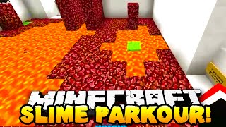 Minecraft - EPIC SLIME PARKOUR! (Deadly Parkour) - w/ Preston, Woofless & Kenny!
