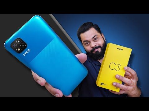 POCO C3 Unboxing And First Impressions ⚡⚡⚡ MediaTek Helio G35, Triple Cameras & More