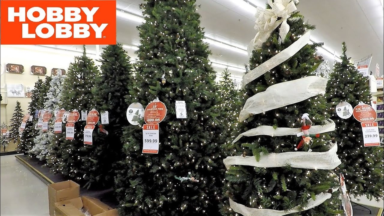 hobby lobby all christmas trees christmas shopping decorations home decor 2018