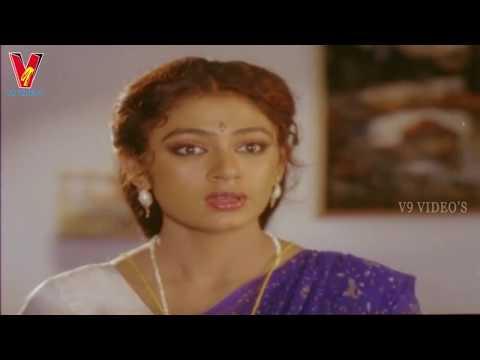 Shobana Saree Changing Scene | Alludugaru |  Mohan Babu | Shobana | V9 Videos
