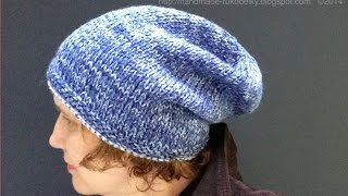 Watch How To Knit Slouchy Simple Hat 4 Advanced Beginners