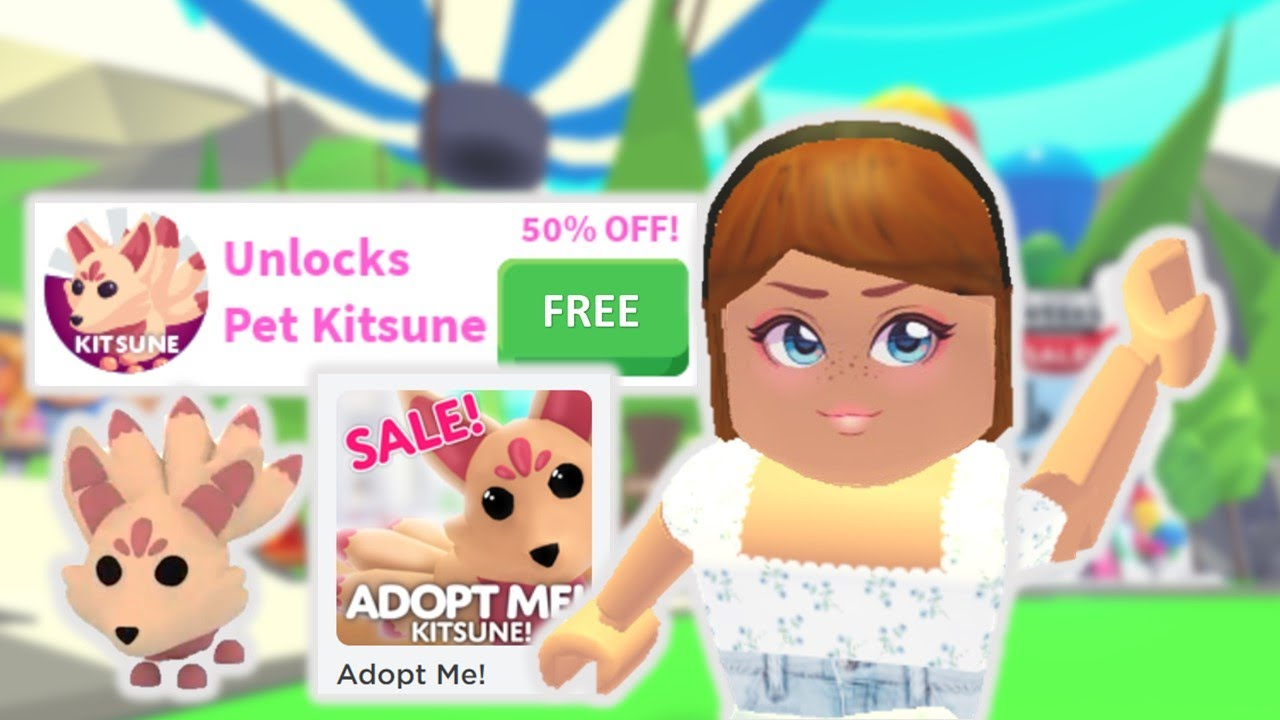 How To Get The Legendary Kitsune Pet For Free In Adopt Me Roblox Youtube