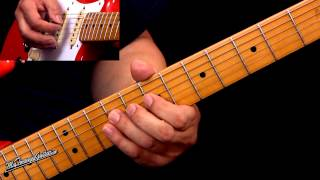 Texas Blues Shuffle Lesson In The Style of SRV