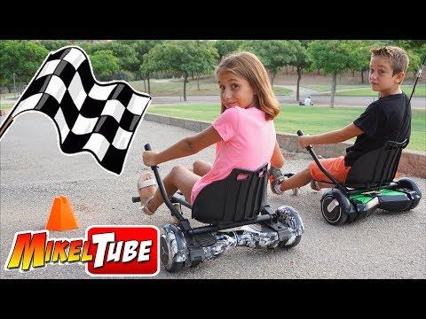 Mikel Vs. Lola en Carreras Hoverboard KART